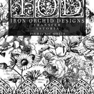 Astoria IOD Transfer pad packaging FRONT 300x300 - My Shabby Chic Corner - Prodotti Iron Orchid Designs - IOD