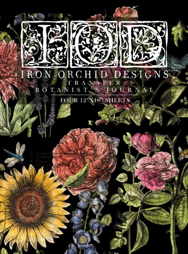 Botanists Journal IOD Transfer pad packaging FRONT 600x808 - My Shabby Chic Corner - Prodotti Iron Orchid Designs - IOD