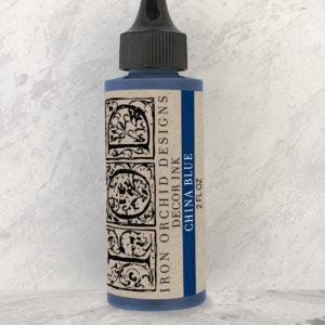 IOD DecorInk ChinaBlue 300x300 - My Shabby Chic Corner - Prodotti Iron Orchid Designs - IOD
