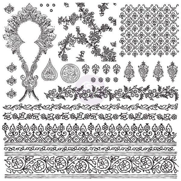Decor Stamp Bohemian 600x600 - My Shabby Chic Corner - Prodotti Iron Orchid Designs - IOD