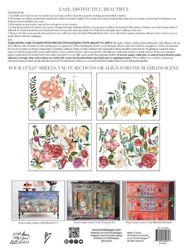 Wander IOD Transfer pad packaging BACK 1 600x796 - My Shabby Chic Corner - Prodotti Iron Orchid Designs - IOD