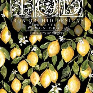 Lemon Drops IOD Transfer pad packaging FRONT S 300x300 - My Shabby Chic Corner - Prodotti Iron Orchid Designs - IOD