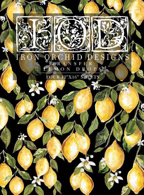 Lemon Drops IOD Transfer pad packaging FRONT S 600x808 - My Shabby Chic Corner - Prodotti Iron Orchid Designs - IOD
