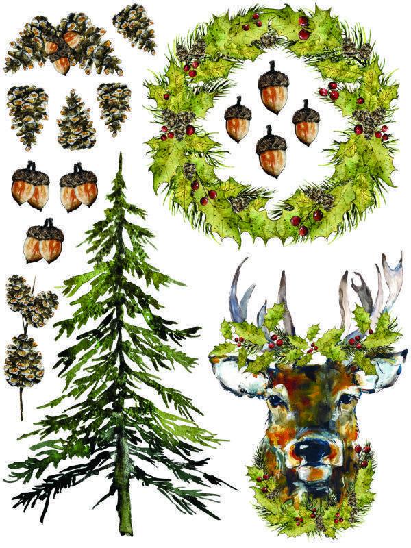 IOD Woodland Christmas 8 600x800 - My Shabby Chic Corner - Prodotti Iron Orchid Designs - IOD
