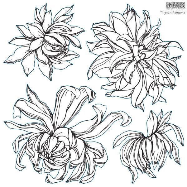 Decor Stamp Chrysantemums1 600x600 - My Shabby Chic Corner - Prodotti Iron Orchid Designs - IOD