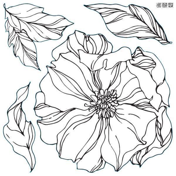 Decor Stamp Peonies1 600x600 - My Shabby Chic Corner - Prodotti Iron Orchid Designs - IOD
