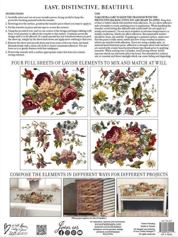Floral Anthology BACK 600x800 - My Shabby Chic Corner - Prodotti Iron Orchid Designs - IOD