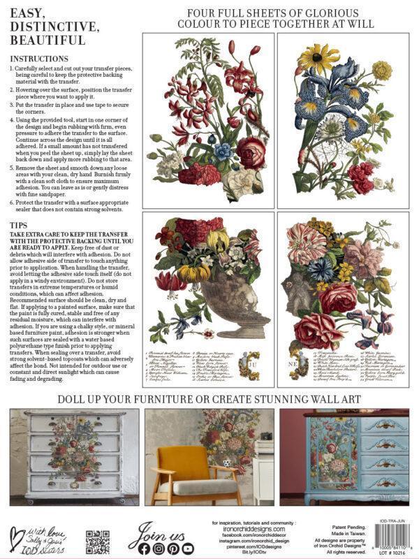 June BACK 600x800 - My Shabby Chic Corner - Prodotti Iron Orchid Designs - IOD