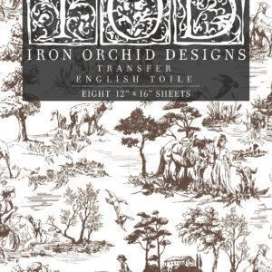 Transfer English Toile 300x300 - My Shabby Chic Corner - Prodotti Iron Orchid Designs - IOD