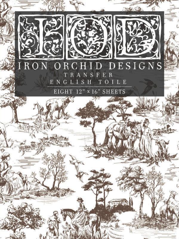 Transfer English Toile 600x800 - My Shabby Chic Corner - Prodotti Iron Orchid Designs - IOD