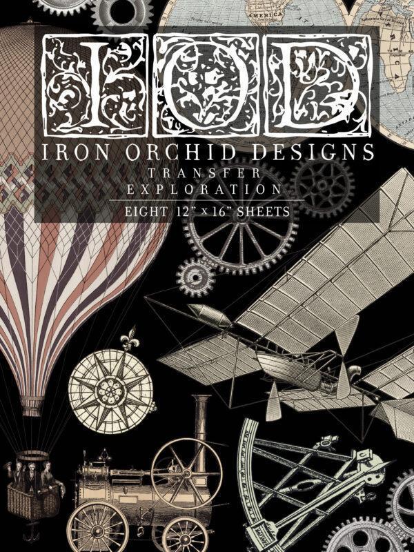 Transfer Exploration 600x800 - My Shabby Chic Corner - Prodotti Iron Orchid Designs - IOD