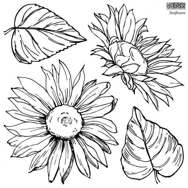 IOD STA SUN STAMPS Sunflowers 2 1 600x600 - My Shabby Chic Corner - Prodotti Iron Orchid Designs - IOD