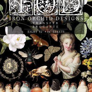 Brocante Transfer 8 sheets 300x300 - My Shabby Chic Corner - Prodotti Iron Orchid Designs - IOD