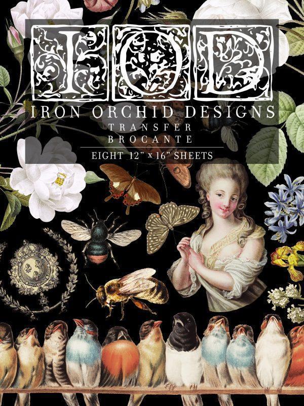 Brocante Transfer 8 sheets 600x800 - My Shabby Chic Corner - Prodotti Iron Orchid Designs - IOD