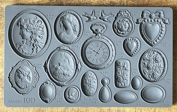 Cameos Mould 600x380 - My Shabby Chic Corner - Prodotti Iron Orchid Designs - IOD