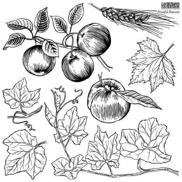Fruitful Harvest Stamp sheet2 600x600 - My Shabby Chic Corner - Prodotti Iron Orchid Designs - IOD