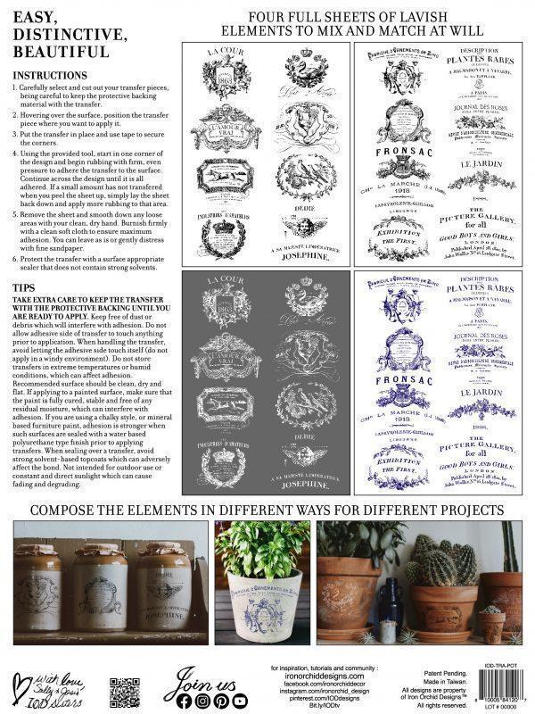 IOD TRA POT BACK 1 600x800 - My Shabby Chic Corner - Prodotti Iron Orchid Designs - IOD