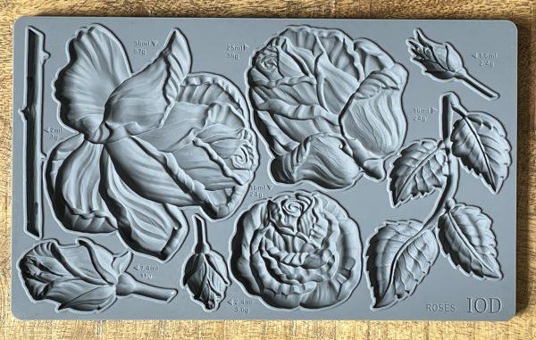 Roses Mould 600x381 - My Shabby Chic Corner - Prodotti Iron Orchid Designs - IOD